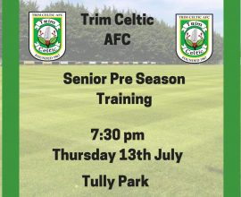 trim Celtic Pre Season Training